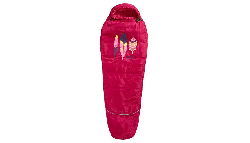 Jack Wolfskin Grow Up Kids - Sac de couchage - rouge